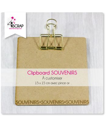 A customiser Scrapbooking Carterie souvenirs - Moyen clipboard carré