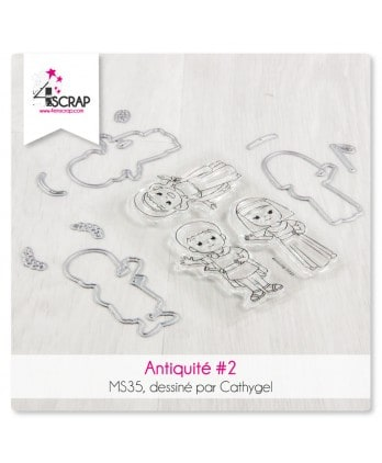 Cutting die Clear Stamp Scrapbooking Card making caractere - Antiquity 2