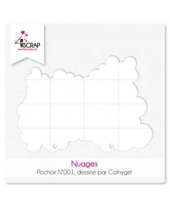 Pochoir Scrapbooking Carterie - Nuages