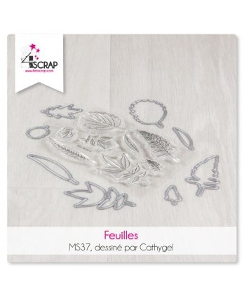Tampon transparent matrice die Scrapbooking Carterie nature - Feuilles