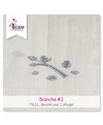 Matrice de coupe Scrapbooking Carterie nature arbre - Branche 2