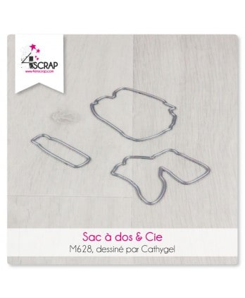 Matrice de coupe Scrapbooking Carterie nature - Sac à dos & Cie