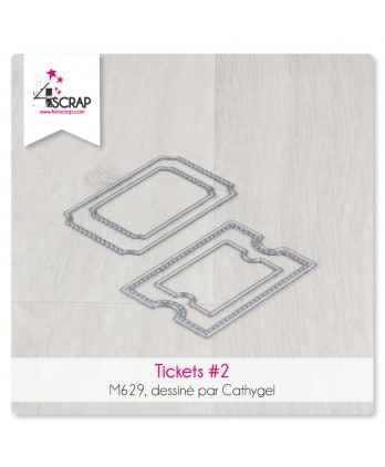 Matrice de coupe Scrapbooking Carterie nature - Tickets 2