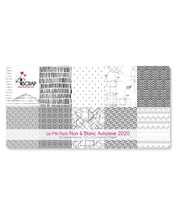 Printed Paper Scrapbooking Card Pack - Fall 2020 little black and white pack