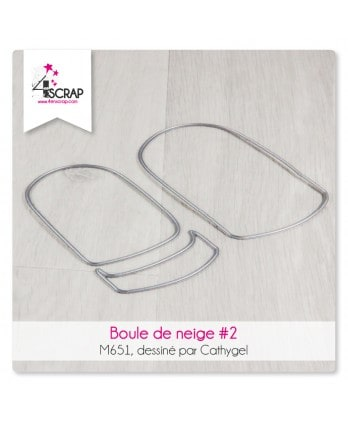 Matrice de coupe Scrapbooking Carterie à secouer - Boule à neige 2