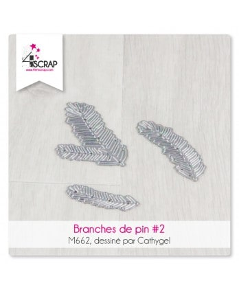 Matrice de coupe Scrapbooking carterie - Branches de pin 3