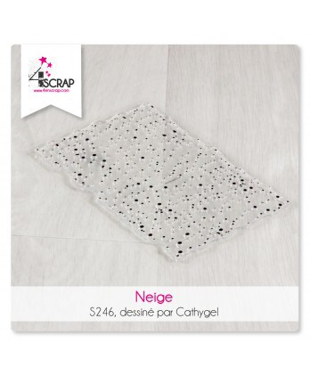 Tampon transparent Scrapbooking Carterie - Neige