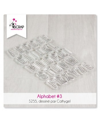Clear stamp Scrapbooking Card making letter - Alphabet 3