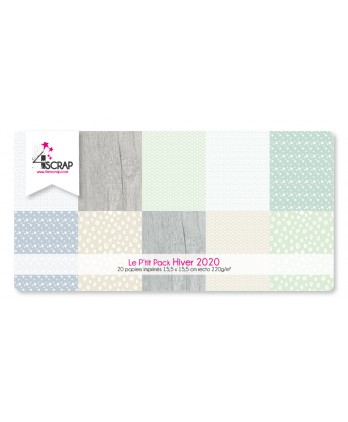 Printed Paper Scrapbooking Card Pack - Hiver 2020 little black and white pack