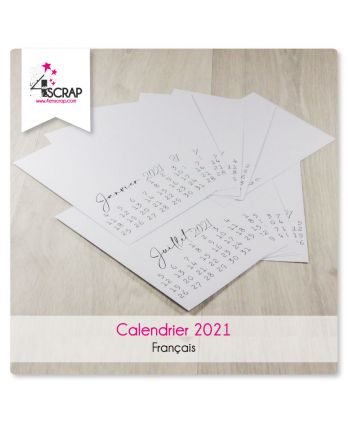 To Customize Scrapbooking Card Making - 2021 Calendar in French