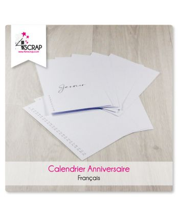 To Customize Scrapbooking Card Making - Birthday Calendar in French