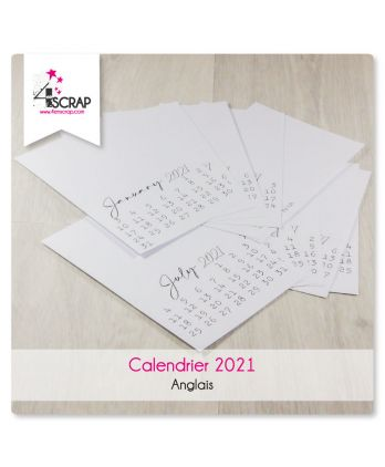 To Customize Scrapbooking Card Making - 2021 Calendar in English