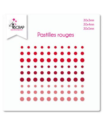 Embellishment Scrapbooking Card making sticker - Red Dots
