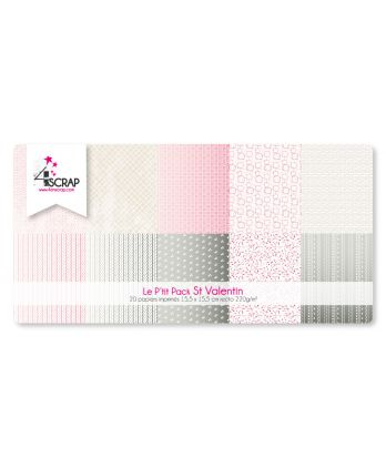Printed Paper Scrapbooking Card Pack - Valentine's day little pack
