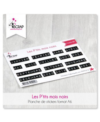 Stickers Scrapbooking Cardmaking - Little black words