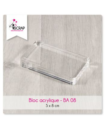 Clear acrylic block Scrapbooking Card Making - Acrylic block 5 cm x 8 cm