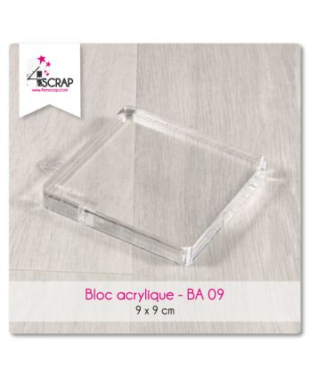 Clear acrylic block Scrapbooking Card Making - Acrylic block 9 cm x 9 cm