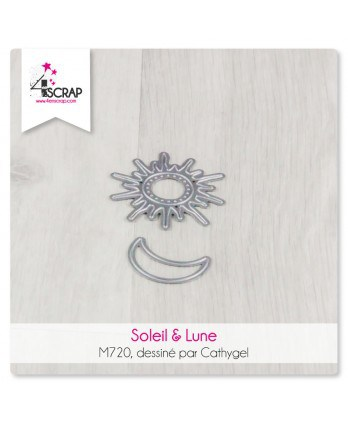 Cutting die Scrapbooking Card Making - Sun and Moon