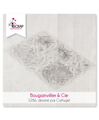 Clear stamp Scrapbooking Card - bougainvillea & Co