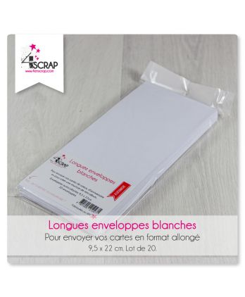 A customiser Scrapbooking Carterie - Enveloppes longues blanches