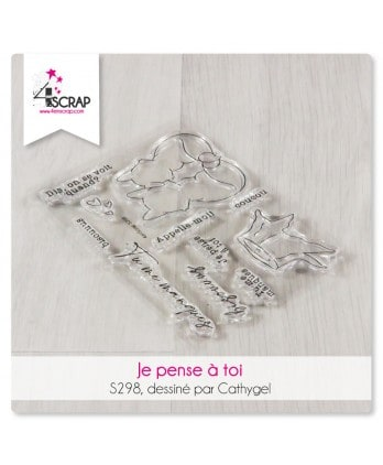 Clear stamp Scrapbooking Card making - I'm thinking about you