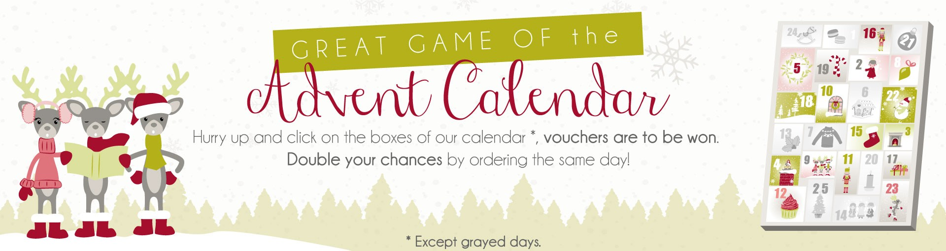 Advent calendar game